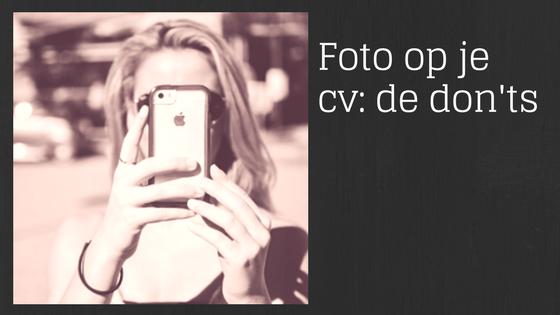 Banner Foto op de cv - de don'ts